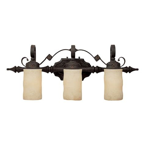 Rustic Bathroom Vanity Light Fixtures by Capital Lighting Rustic Iron River Crest 3 Light Bathroom