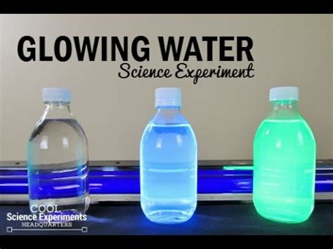 glowing water science experiment youtube