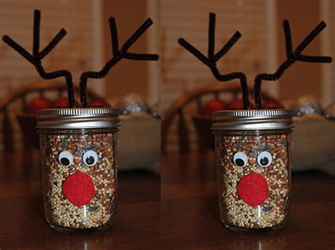 reindeer food christmas craft idea using a mason jar