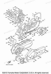 Yamaha Scooter 2011 Oem Parts Diagram For Crankcase