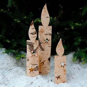 Bestes Holz Für Draussen : holz kerzen nat rliche weihnacht 3er set von g rtner ~ Whattoseeinmadrid.com Haus und Dekorationen