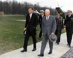 File:Meeting with President Eisenhower. President Kennedy ...