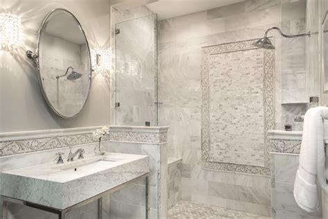 Mosaic Border Tiles Bathrooms by Our Hton Carrara Bathroom With Mosaic Border Tile