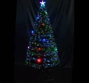 6 3ft fiber optic tree with 24 led lights 230 leaf tips new