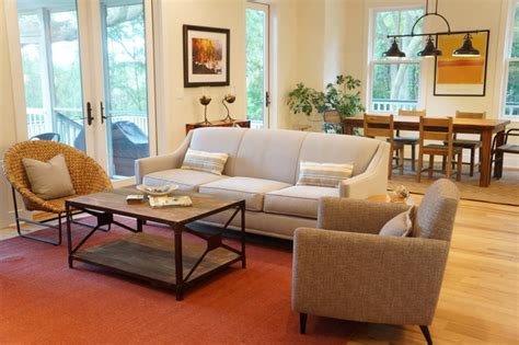 Minimalist Lowcountry Home  Eclectic  Family Room