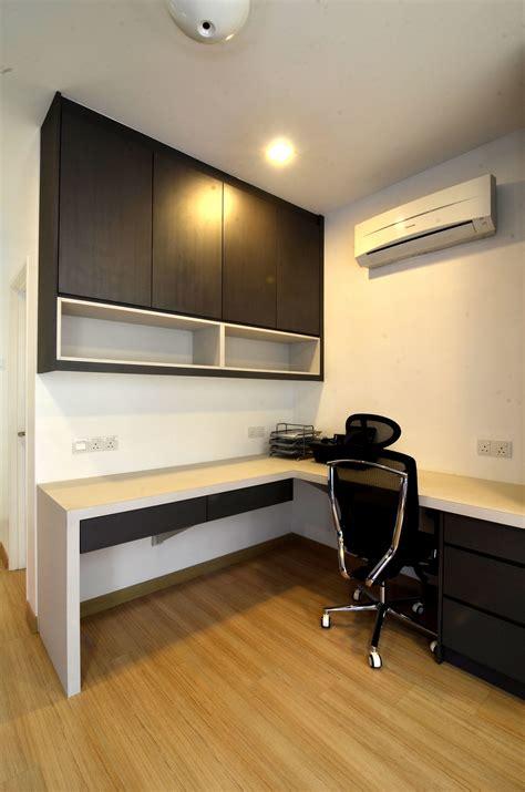 working table hanging cabinet studyroom design