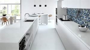 Plan De Travail Com : plan de travail en quartz blanc cuisine naturelle ~ Melissatoandfro.com Idées de Décoration