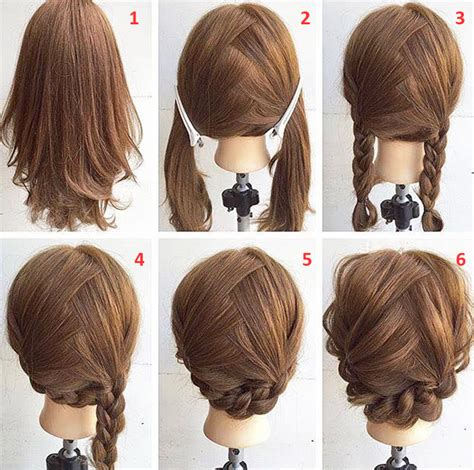 easy step  step hairstyles  medium hair
