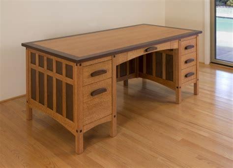 wood arts  crafts style desk plans  plans
