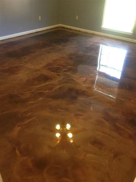 coffee and brass reflector floor   Reflector Epoxy