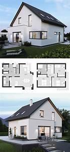 Haus Bauen Ideen Grundriss : satteldach haus modern mit erker anbau 4 zimmer ~ Orissabook.com Haus und Dekorationen