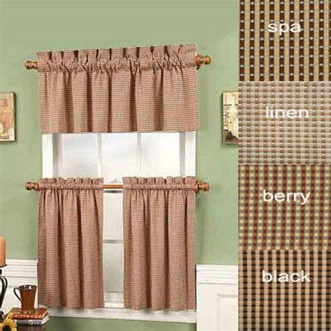 black  long fleetwood rod pocket tier curtain pair