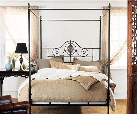 iron canopy bed canopy metal bedframe for