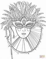 Coloring Carnival Mask Pages Gras Mardi Lady Masks Printable Masken Zum Ausmalen Colouring Venetian Adults Supercoloring Woman Maske Ausdrucken Fuer sketch template