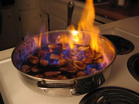 cuisine chimique flambé