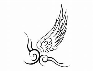 Simple Wing Tattoos - ClipArt Best