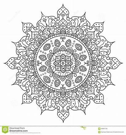 Mandala Ornament Coloring Medallion Kaleidoscope Adult Deco