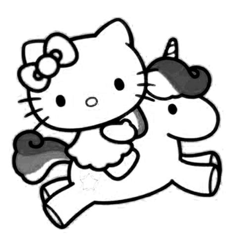 Malvorlagen Hello Kitty Mit Pferd Zum Ausdrucken