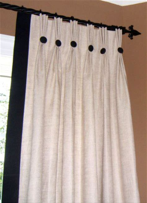 classic pinch pleat panels  edge band  buttons