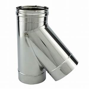 Tubage Exterieur Cheminée Inox : t 45 avec bouchon inox simple paroi ~ Edinachiropracticcenter.com Idées de Décoration