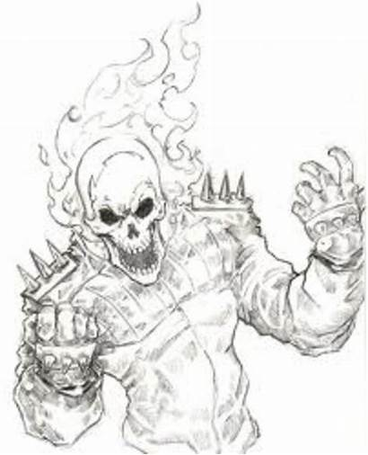 Ghost Rider Coloring Pages Drawings Disney
