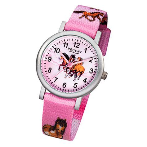 uhr regent kinder armbanduhr pferde quarz aluminium textil