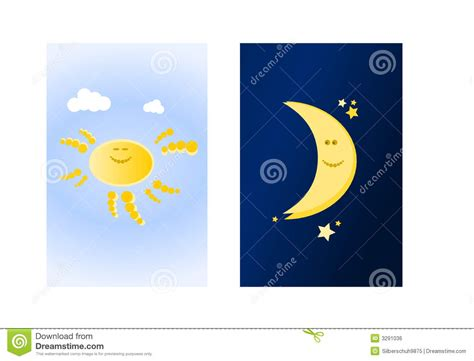 Sun And Moon (ii) Royalty Free Stock Image