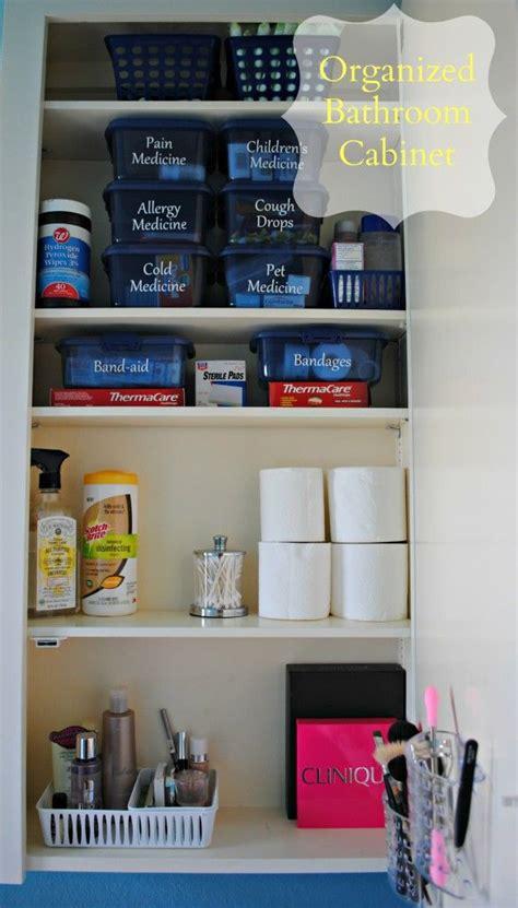 bathroom cabinet organization ideas organizing medicines aid supplies makeup