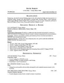 resume format of it students student resume exle