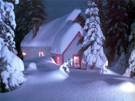 free christmas desktop wallpapers christmas snow house