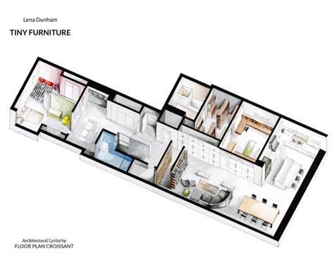 Watercolor Floorplans From Recent Television Shows And by Watercolor Floorplans From Recent Television Shows And