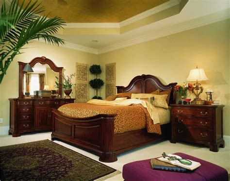 Mansion Bedroom Furniture by American Drew Cherry Grove Mansion Bedroom Set In Cherry