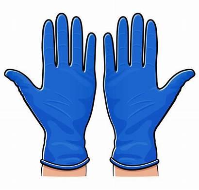 Gloves Rubber Nurse Cartoon Isolated Cartoons Illustrations
