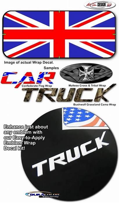 Union Jack Flag Wrap Decal Emblem Graphics