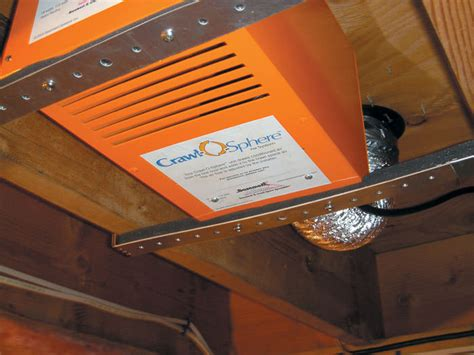 crawl space exhaust fan with humidistat crawl space fan system for ventilating a crawl space in