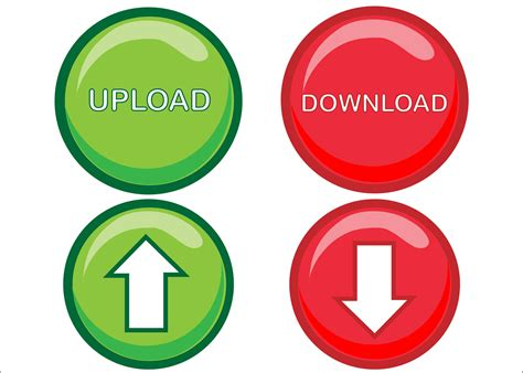 Upload Download Buttons Free Stock Photo