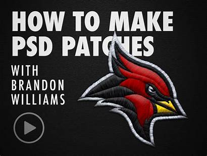 Patches Psd Embroidered Photoshop Panthers Behance Rebrand