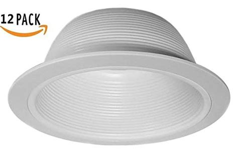 12 pack 6 inch white baffle recessed can light trim 12 pack 6 quot inch white baffle recessed can light trim