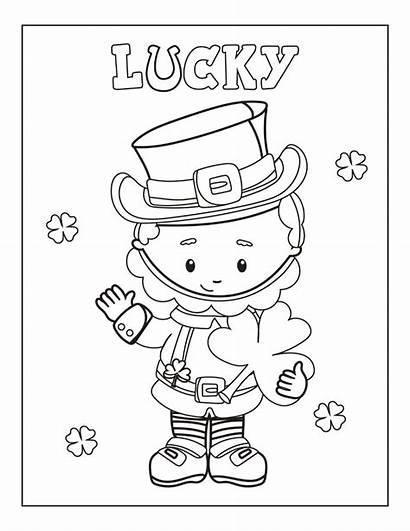 Patrick Coloring Printable Saint Patricks Leprechaun Shamrock