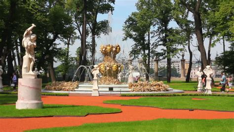 Renovated Summer Garden Park In St Petersburg Russia