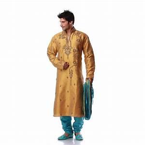 Tenue Indienne Homme : tenue indienne jaune dor et turquoise brod de perles ~ Teatrodelosmanantiales.com Idées de Décoration
