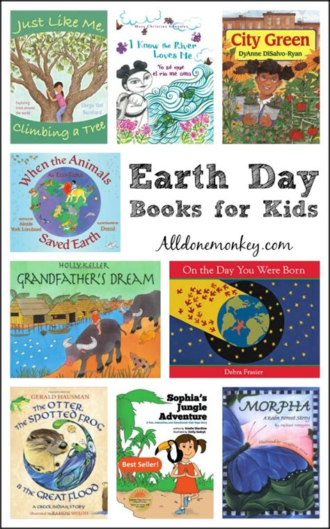 Earth Day Books For Kids  All Done Monkey
