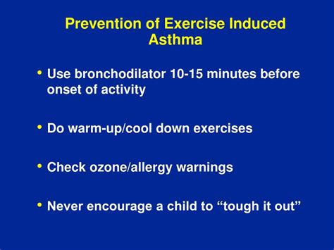 outcomes healthcare extension community minutes ppt powerpoint presentation induced asthma exercise onset activity