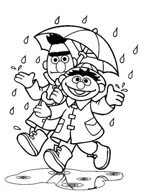 rain coloring pages    print