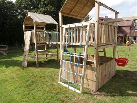 Play Crazy Double Tower Climbing Frames Playcrazy