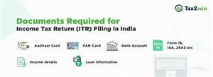 Documents required for filing income tax return itr in for Documents required for tax filing in india