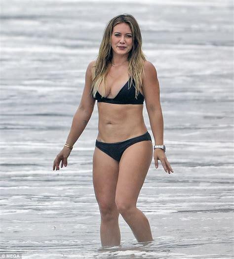 jenna boyd swimsuit hilary duff reveals spectacular body in tiny black bikini