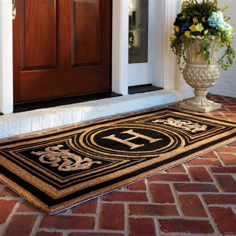 entryways doormat wingate monogrammed entry mat frontgate