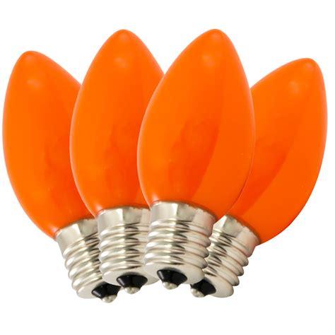 replacement c9 ceramic orange stringlight bulbs 4 pack