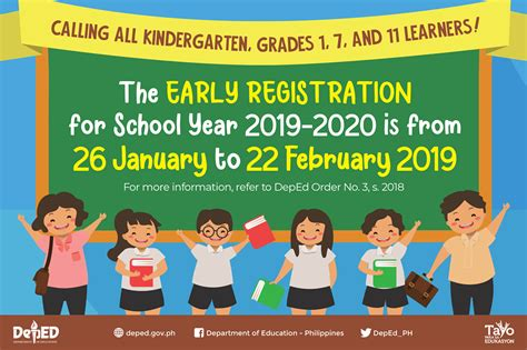 deped calendar activities early registration